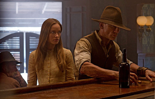 'Cowboys & Aliens' Production Still ~ Jake Lonergan and Ella