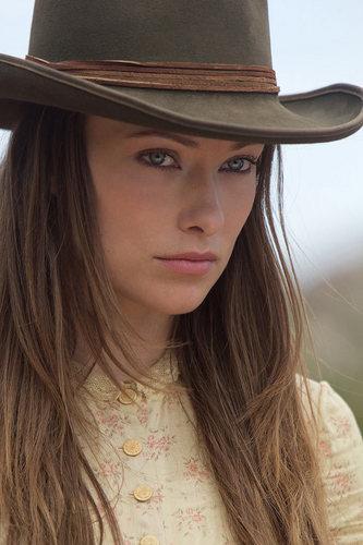 'Cowboys & Aliens' Production Still ~ Olivia Wilde as Ella