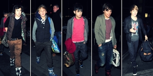 1D Boyz Arriving At Doncaster (Louie's Town) :) x