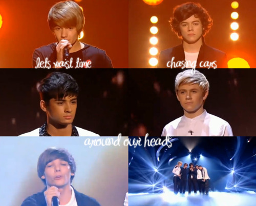 1D Semi Final 2nd Song Chasing Cars (Instead I'm Chasing U) :) x