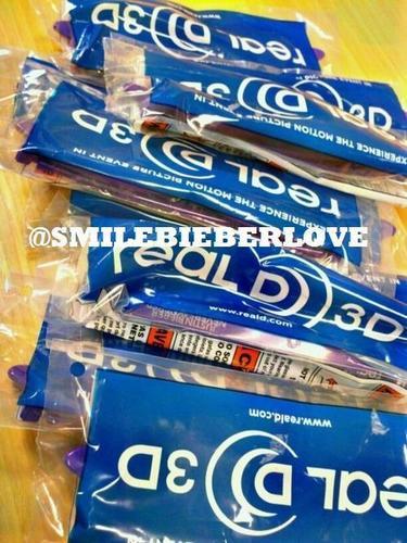 "3D Purple ""Never Say Never"" Glasses!!!!!!"