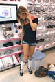 AnnaLynne McCord at the Lady Foot Locker in Fox Hill Mall