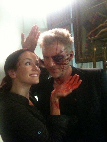 Annie & Callum Keith Rennie on S8 Set