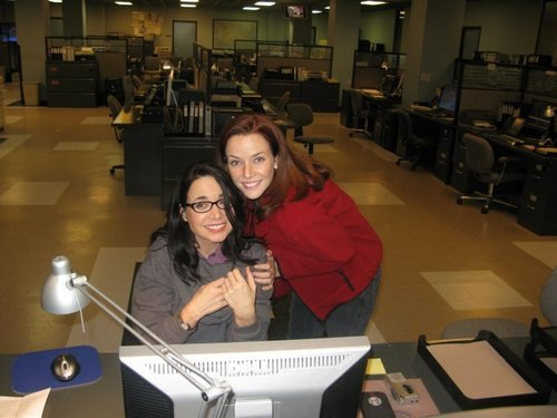 Annie & Janeane Garofalo on S7 Set