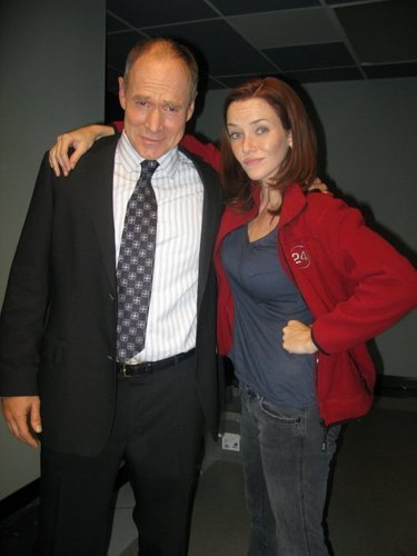 Annie & Will Patton on S7 Set