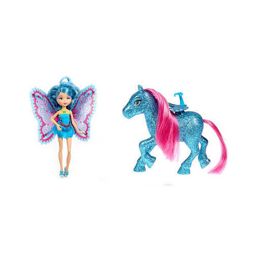 Barbie A Fairy Secret: Mini fairy and pony= Barbie in A Mermaid tale: Destinies and their seahorses?