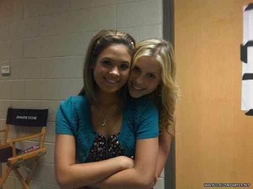 Claire Holt and Nicole Anderson