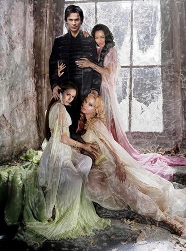 Damon & Bonnie/Elena/Caroline