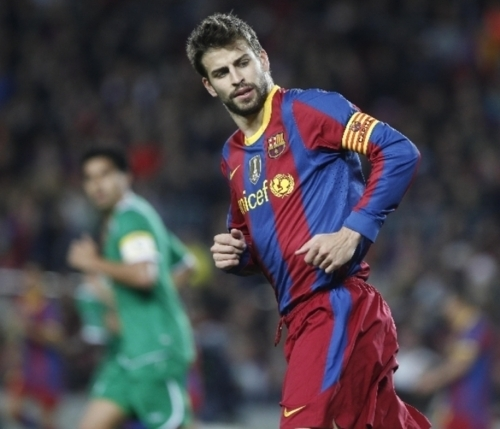 Gerard Piqué wallpaper probably with a forward, a fullback, and a running back called FC Barcelona 2 - 0 Rubin Kazan