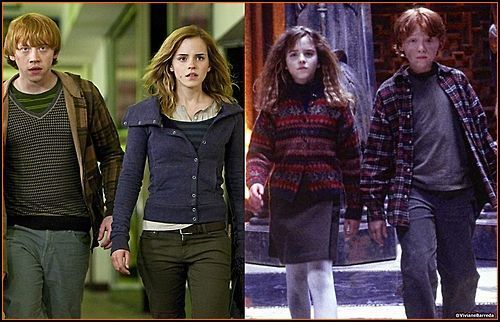 Hermione & Ron: Then & Now