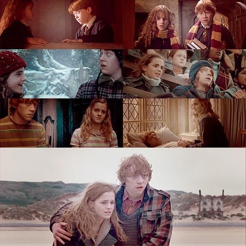 Hermione & Ron - hermione-granger fan art