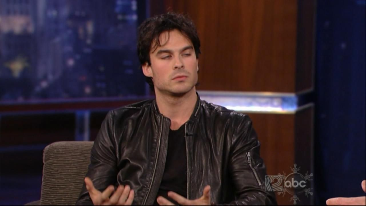 Ian Somerhalder on jimmy kimmel