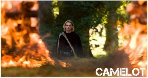 Jamie Campbell Bower in Camelot