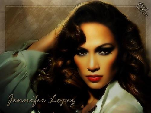Jennifer Lopez karatasi la kupamba ukuta