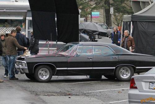 Jensen Ackles and Jared Padalecki shoot in Vancouver - 9 Dec.