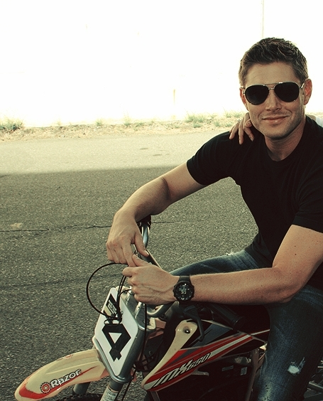 Jensen Ackles On Motorcycle Motorcycle Review And Galleries