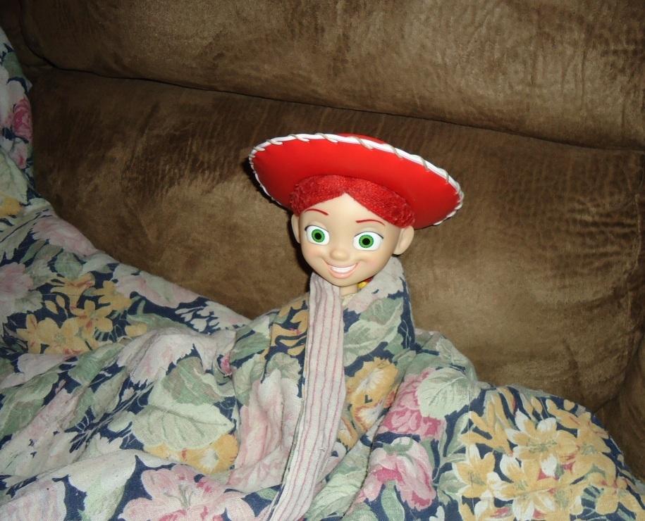 Jessie bundled up