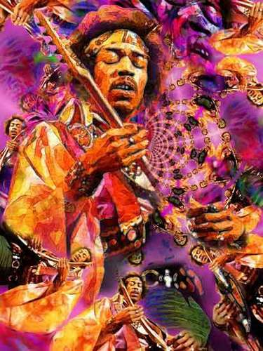 Classic Rock wallpaper probably containing anime called Jimi Hendrix