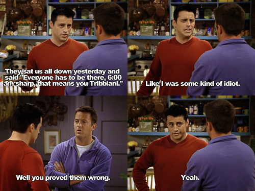 Joey & Chandler fondo de pantalla possibly with a postigo, wicket and a cena, comedor titled Joey Tribbiani (Matt LeBlanc)