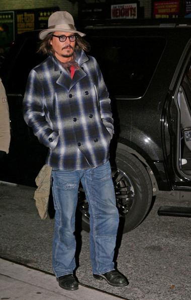 Johnny Depp At The 'Late প্রদর্শনী with David Letterman' - December 7