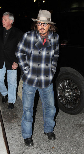 Johnny Depp At The 'Late ipakita with David Letterman' - December 7