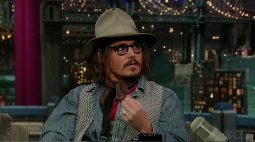 Johnny Depp-'Late tampil with David Letterman' - December 7.2010