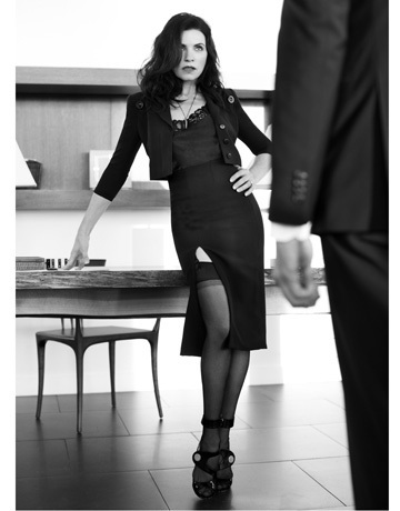 The Good Wife wallpaper containing tights called Julianna Harper's Bazaar Shoot