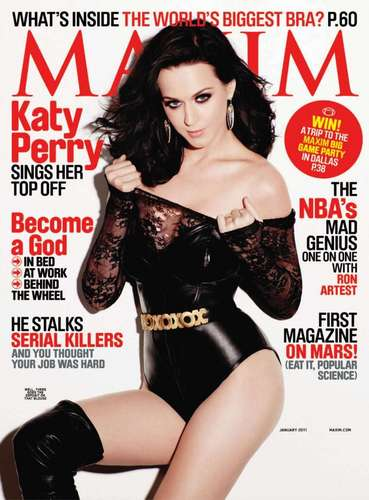 Katy Perry on the Cover of the January 2011 Issue of Maxim Magazine