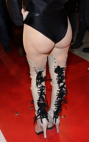 Lady Gaga at the Wax figure at Madame Tussauds - December 9, 2010