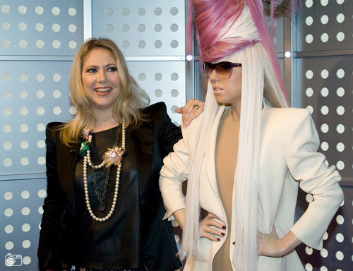 lady gaga wallpaper probably with a portrait called Lady Gaga wax figures at Madame Tussauds