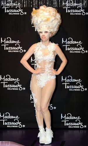 Lady Gaga wax figures at Madame Tussauds