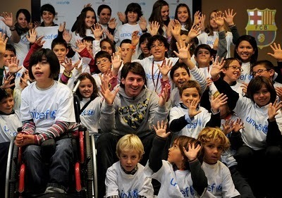 """Lionel Messi for """"Unicef"""" (9.12.2010)"""