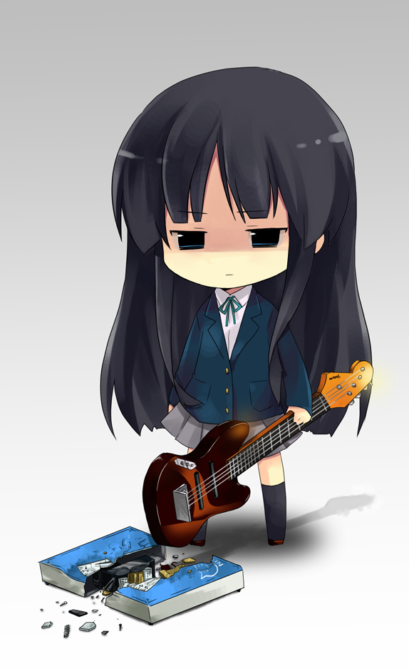 Mio s weight   - k-on Fan Art  K On Mio Bass