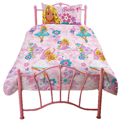 Barbie BALLERINA merah jambu SINGLE DUVET COVER katil SET