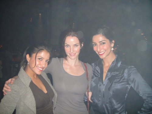 Nazneen Contractor, Annie, & Necar Zadegan on S8 Set