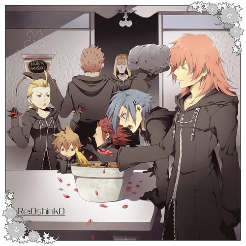 KH: Organization XIII वॉलपेपर possibly with a sign, a lectern, and a coffee break entitled Organization XIII