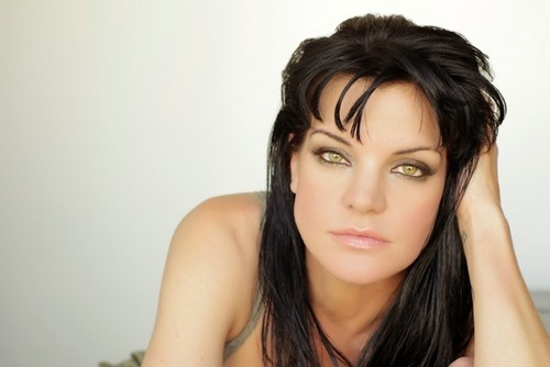 Navy CIS Hintergrund with a portrait called Pauley Perrette