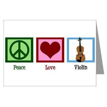 Pretty Violin Notecards