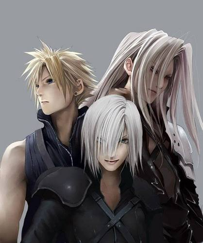 Final Fantasy VII wallpaper probably containing a portrait titled Sephiroth, Kadaj, Cloud