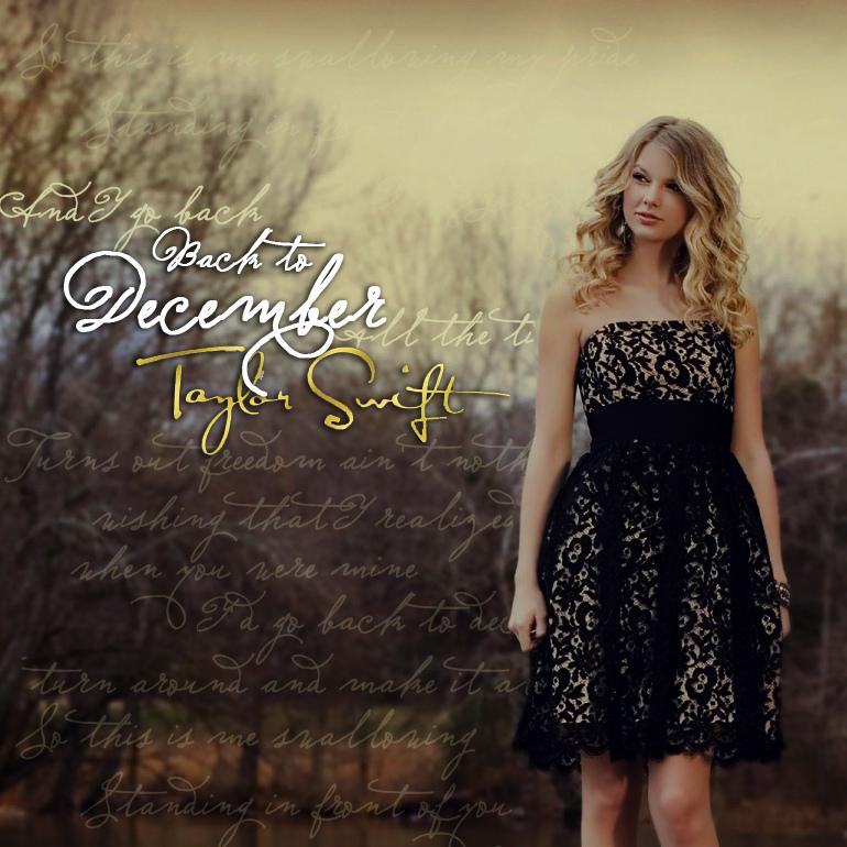 Taylor Swift - Back to December [FanMade Single Cover] - Demi Lovato & Taylor Swift Fan Art ...