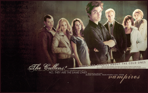 The Cullens वॉलपेपर probably with a sign and ऐनीमे called The Cullen's