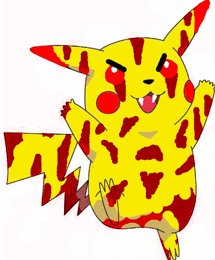 pokémon images the evil pika wallpaper and background photos