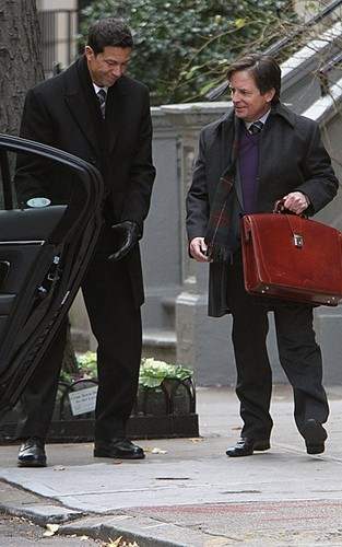 The Good Wife - Set تصاویر with Michael J. لومڑی - Dec 7th