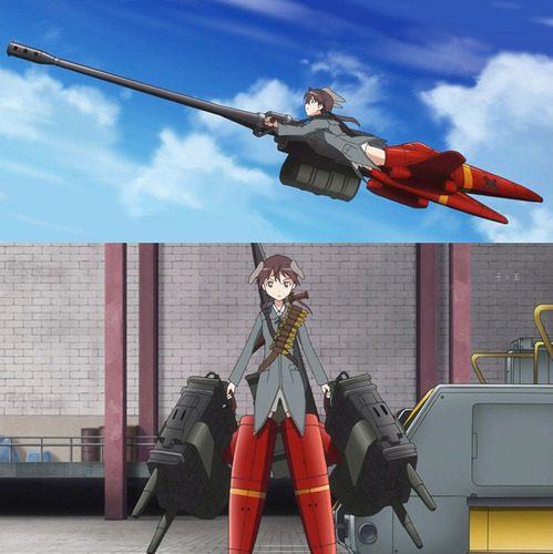 Strike Witches wallpaper called Trude jet