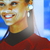 Zoë Saldaña as Uhura photo containing a portrait called Uhura