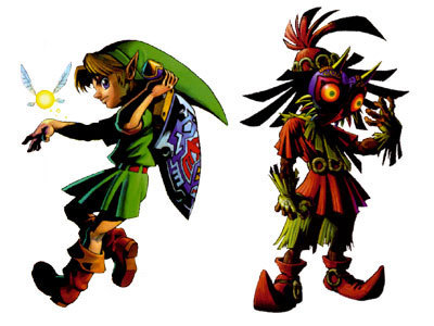 The Legend Of Zelda Images Young Link And Skull Kid Wallpaper Background Photos