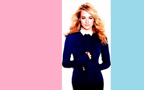 Yvonne Strahovski پیپر وال with a well dressed person and a portrait titled Yvonne