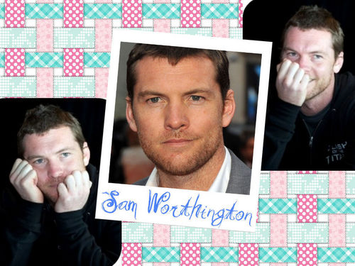 cute sam - sam-worthington Wallpaper