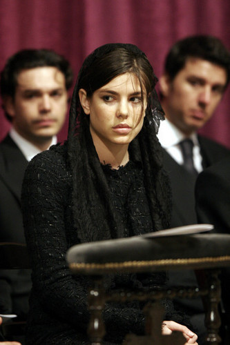 princess charlotte Casiraghi wallpaper titled funeral prince rainier inside servise