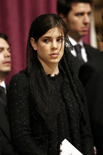 princess charlotte Casiraghi wolpeyper entitled funeral prince rainier inside servise